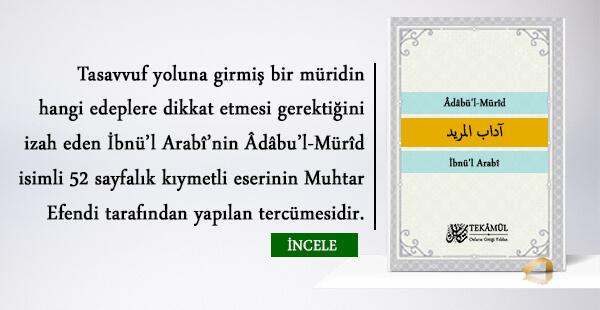 Âdâbü'l-Mürîd – İbnü'l Arabî