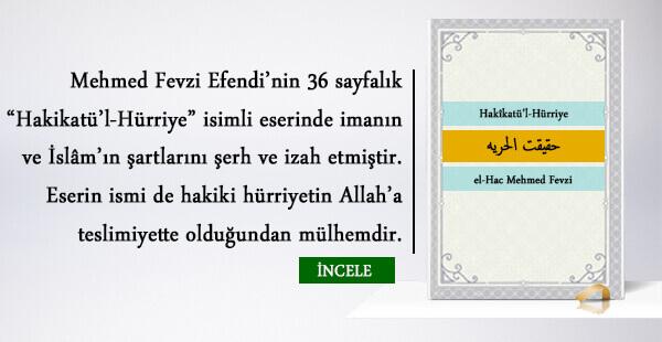 Hakîkatü'l-Hürriye – el-Hac Mehmed Fevzi